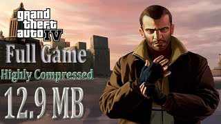 GTA IV Full PC Game Highly Compressed 12.9 MB Download