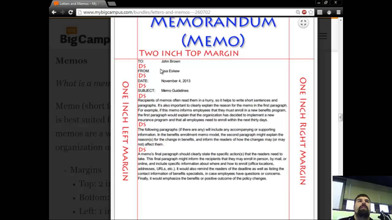 Business Letters Memos And Letterheads Youtube
