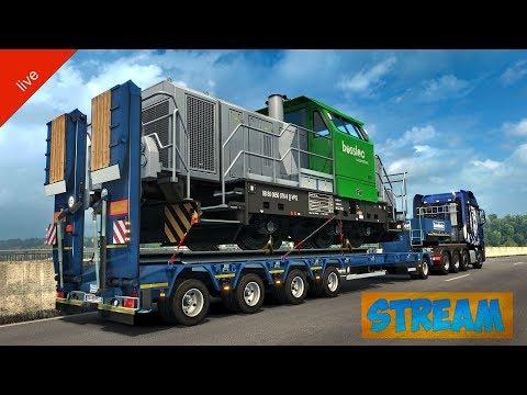 Euro Truck Simulator 2. Multiplayer. Тяжёлый груз. 18+
