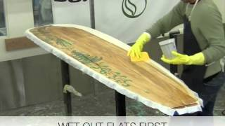 Grain Surfboard Laminating Tutorial with Entropy Resins