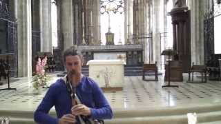Kevin James Carroll playing Flute in an old church in France.