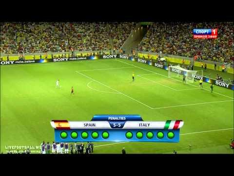 1/2 Финала Италия-Испания Серия пенальти 2
