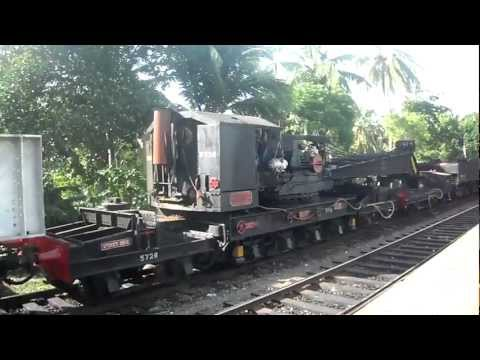 Sri Lanka Railway Ballast Train (Crane Special) - Consisting of 22 wagons and carriages