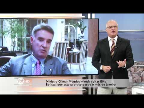 Ministro Gilmar Mendes manda soltar Eike Batista