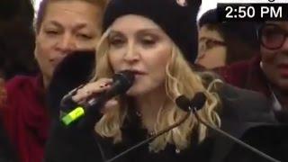 Madonna Drops The F-Bomb On CNN Twice #womensmarch