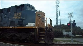 CSX Mixed Freight Train 2 Miles Long 148 Cars