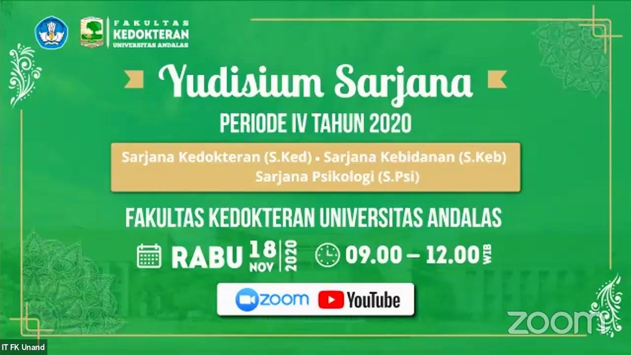 Yudisium Program Sarjana Fk Unand Periode Iv Tahun 2020