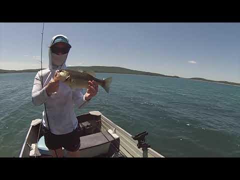 Bass Fishing Round Valley Reservoir NJ 5-30-20
