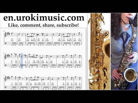 Saxophone lessons (Alto) Harry Potter - Hedwig's Theme Sheet Music Tutorial um-i352