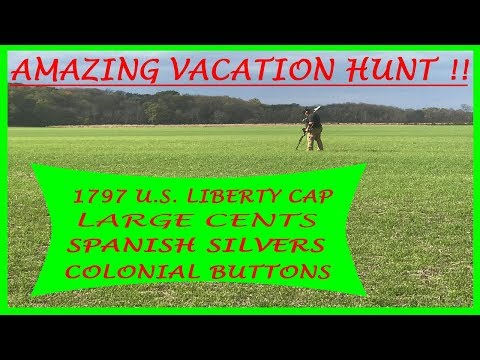 On A Quest For Colonial Treasure!! Early U.S. Coppers and Spanish Silvers Found Metal Detecting!!