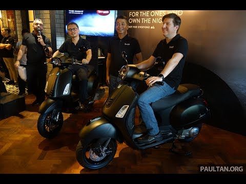 Vespa Notte Edition for GTS Super  ABS and Sprint  i-GET ABS launched
