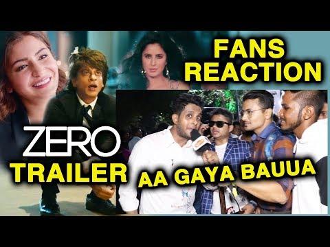 ZERO TRAILER REACTION By Shahrukh Khan's Die-Hard Fans | Zero Trailer Launch | Katrina, Anushka