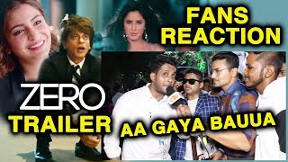ZERO TRAILER REACTION By Shahrukh Khan's Die-Hard Fans | Zero Trailer Launch | Katrina, Anushka