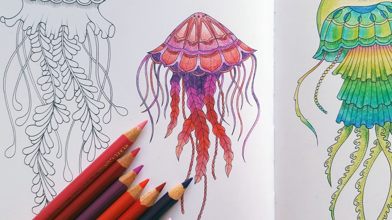 Lost Ocean Speed Colouring Valentines Day Jellyfish