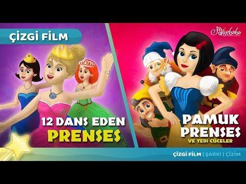 2 Masal | Pamuk Prenses ve Yedi Cüceler - 12 Dans Eden Prenses | Adisebaba Masal