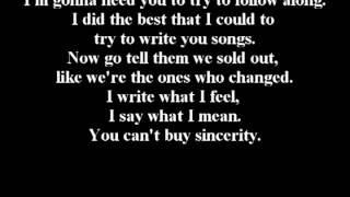 A Day To Remember - Downfall Of Us All LYRICS!!!!