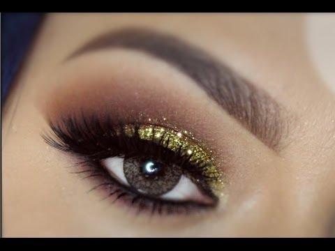 Maquillaje de ojos dorado y marrn en colaboracion YouTube