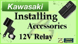 Detailed STEP BY STEP INSTALLATION  - Electrical Accessories Relay in a Kawasaki Vulcan S 650