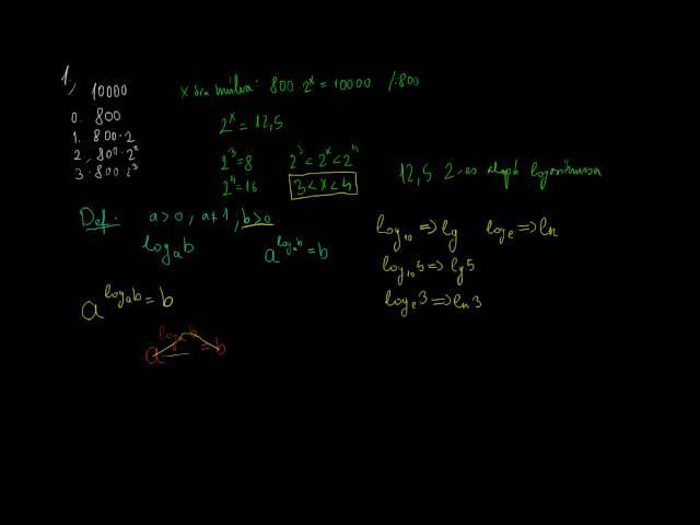 A logaritmus fogalmának bevezetése 1