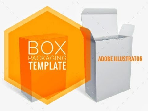 create box packaging template in adobe illustrator youtube