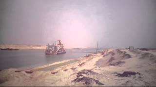 New Suez Canal: navigation, dredging at the opening June 10, 2015 platform area