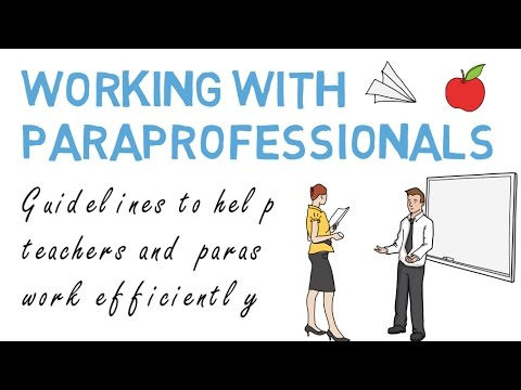 When Is Use Of Paraprofessionals >> Working With Paraprofessionals Classroom Collaboration