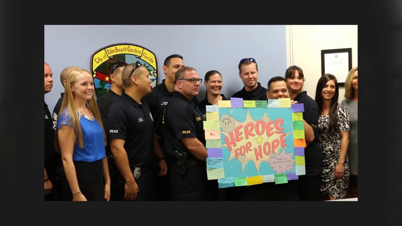 palm beach gardens police department palm beach gardens police department heroes for hope