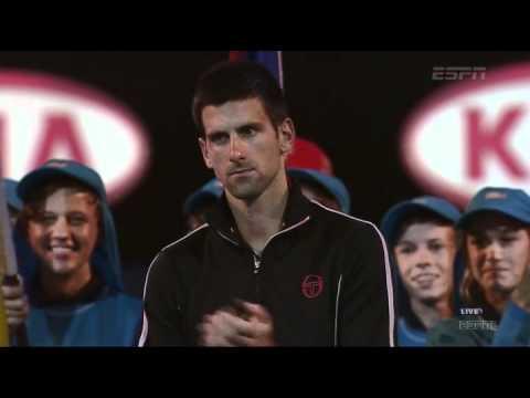 Australian Open 2012: N.Djokovic (SRB) - R.Nadal (ESP) final [victory ceremony]