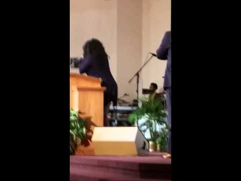 """LeDessa Brown singing  """"He's Able"""""""