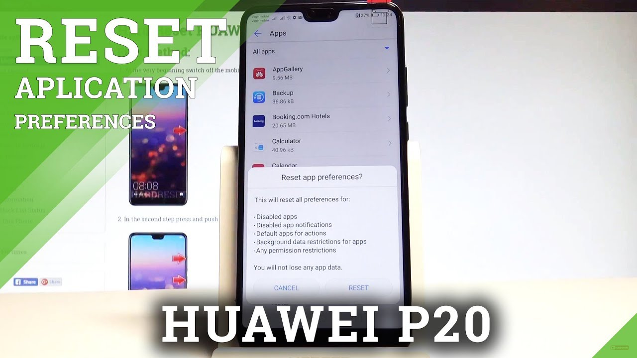 How to Reset App Preferences in HUAWEI P20 - Android App Settings  |HardReset Info