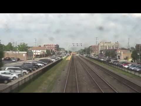 REAR VIEW - Amtrak's California Zephyr - Chicago to Lisle, IL