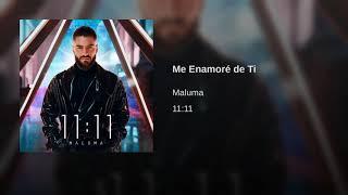 Maluma - Me Enamore De Ti (Official Audio 2019)