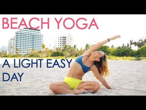 Beach Yoga for A Light Easy Day