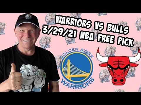 Golden State Warriors vs Chicago Bulls 3/29/21 Free NBA Pick and Prediction NBA Betting Tips
