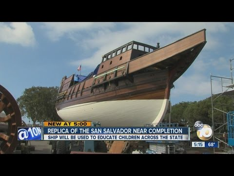 Replica of the San Salvador nearing completion