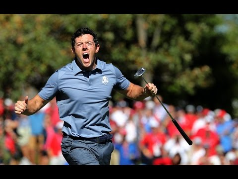 McIlroy v Reed - Incredible putts and reaction