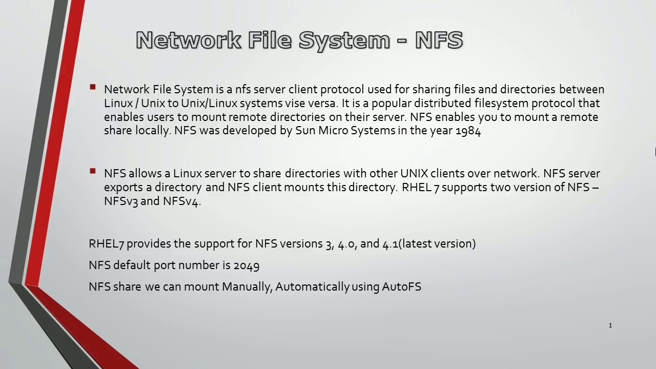 NFS (Network File Systems) on Linux - 1