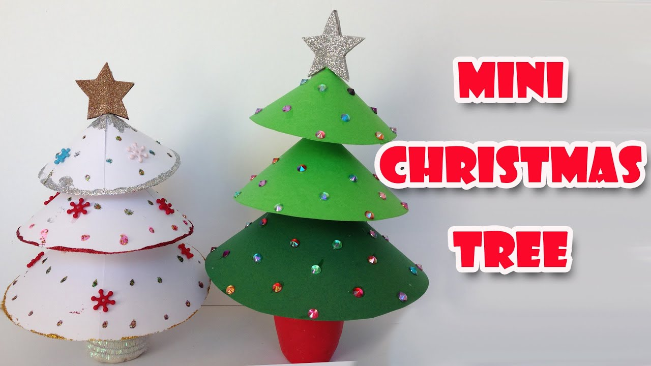diy christmas crafts mini christmas tree easy ana diy crafts youtube - Childrens Christmas Tree Decorations