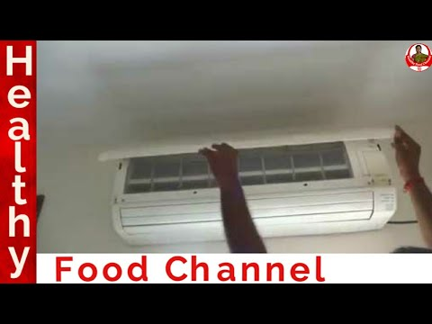 AC cleaning at home in tamil | how to clean ac filter | cleaning tips in tamil | Healthy Food