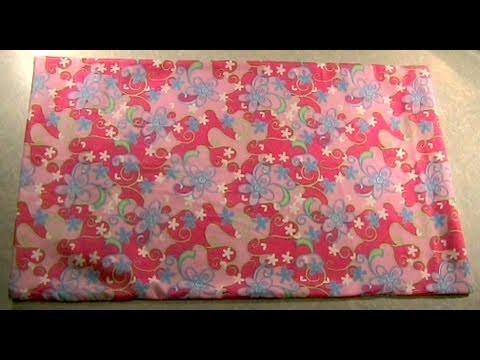 Sew a Simple Pillowcase - YouTube