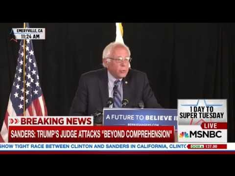 Woman Reporter Asks Bernie If It