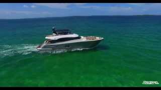 76' Monte Carlo Yachts MCY76 [Drone in the Bahamas]