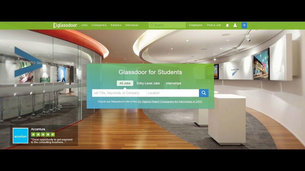 Glassdoor For Students Youtube