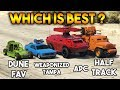 GTA 5 ONLINE : APC VS WEAPONIZED TAMPA VS HALF TRACK VS DUNE FAV (WHICH IS BEST WEAPONIZED ?)