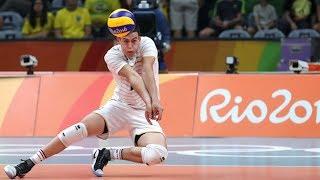 【バレーボール】フランスNo1リベロのスーパーレシーブ!気迫がすごい【スポーツ】 Jenia Grebennikov - Volleyball Best Libero