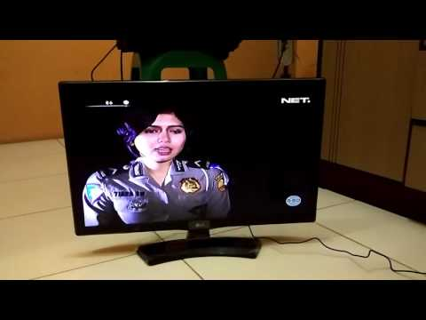 Test TV LED LG 24MT48AF. Jernih full HD Sudah digital