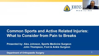 Common Sports and Activity Related Injuries: What to Consider from Pain to Breaks
