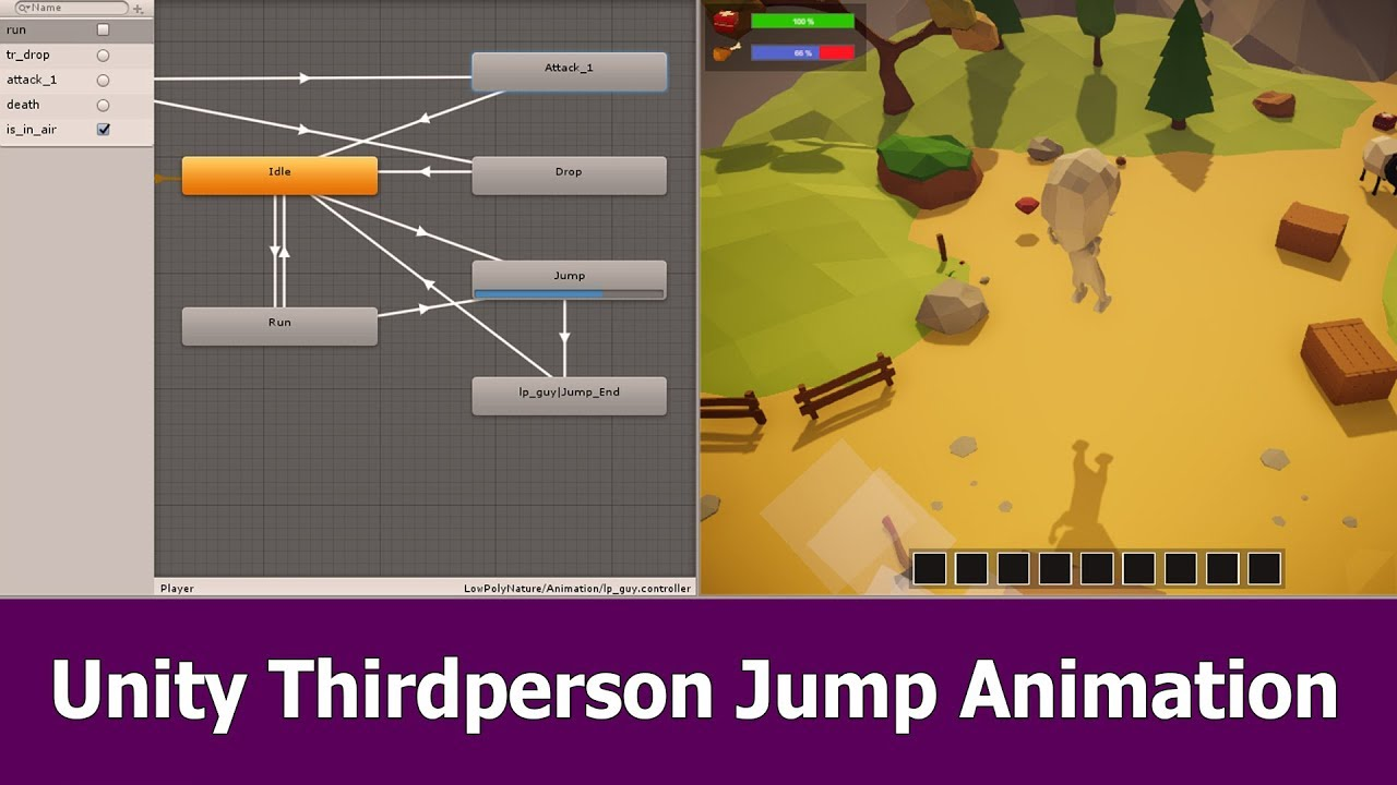 Unity Thirdperson Character Jump Animation