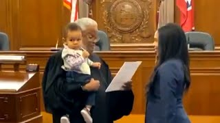 How a Judge Calmed a Fussy Baby While Swearing In His Mom