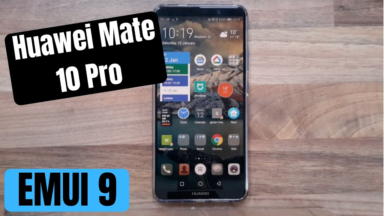 Huawei Mate 10 Pro EMUI 9 Eye Comfort changes Android Pie